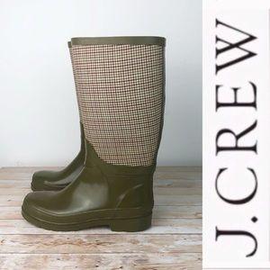 J. Crew Olive & Tweed Rainboots